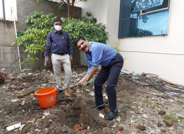 Tree Plantation on the occasion of 85th Birthday of Hon. Founder Hon.Founder Annasaheb Dange